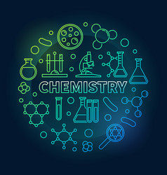 chemistry round colored concept outline vector image