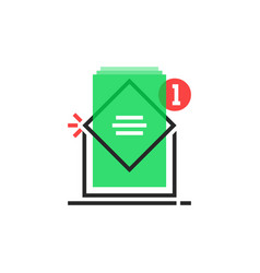 color email logo like inbox notice vector image