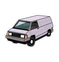 Commercial vehicle - delivery van cargo transport vector