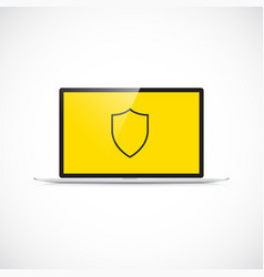computer virus protection concept vector image