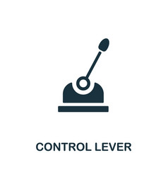 Control lever icon monochrome simple element from vector