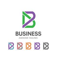 Creative b letter logo vector