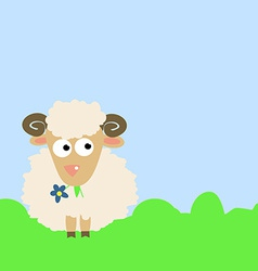 Cute cartoon sheep vector
