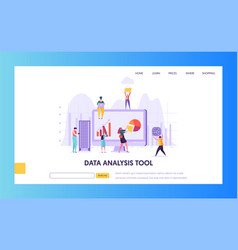 digital marketing analysis research landing page vector image