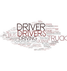 Drivers word cloud concept vector
