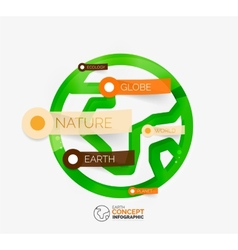 Eco Earth globe infographic concept vector image