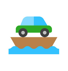Ferry watercraft flat style icon vector