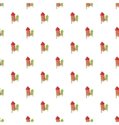 Firecracker pattern cartoon style vector