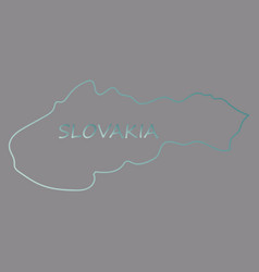 flag map of slovakia vector image