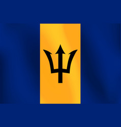 Flag of barbados - vector