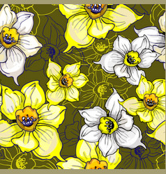floral summer seamless pattern with vector image