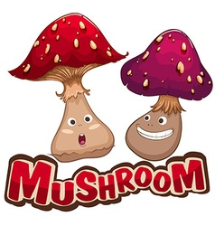 Fresh mushroom with happy face vector image
