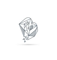 Gemstone letter b logo design icon template vector