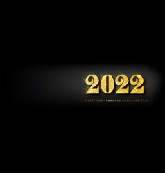 happy new year 2022 bannergolden luxury vector image
