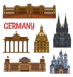 historic buildings and sightseeings germany vector image