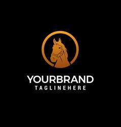 horse head logo design concept template vector image
