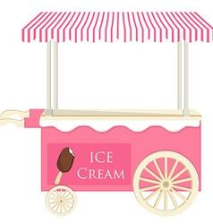 Ice cream pink cart vector image