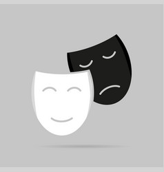 icons with shadow masks on a gray background vector image