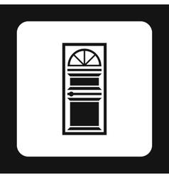 Iron entrance door icon simple style vector