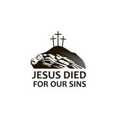 Jesus golgotha icon vector