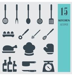 Kitchenware set icons vector image