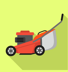 Lawnmower icon flat style vector