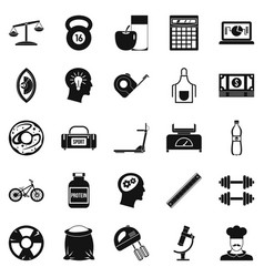 Libra icons set simple style vector