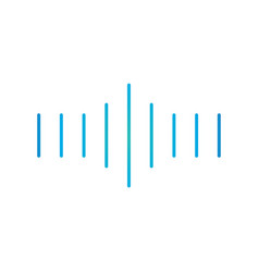 linear sound or voice floating media wave vector image