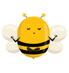 logo a bee stylized with a honey bee vector image