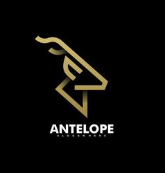 logo antelope line art style vector image