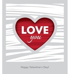 Love you Valentines Day design vector image