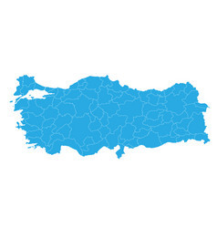 Map of turkey high detailed map - turkey vector
