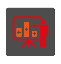 Medical Public Report Flat Button vector
