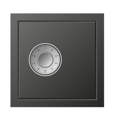metal safe box icon realistic style vector image