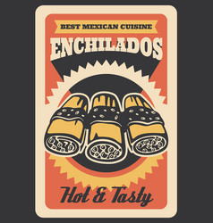 Mexican enchilados retro poster vector