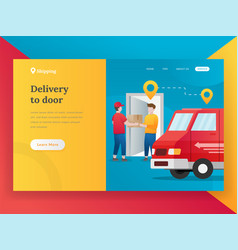 modern flat design concept of online shipping vector image