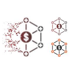 moving pixel halftone financial medical network vector image