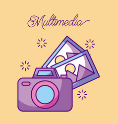 multimedia photographic camera picture gallery vector image