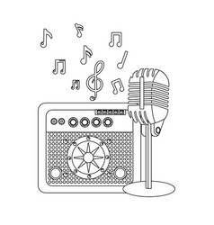music elements cartoon vector image