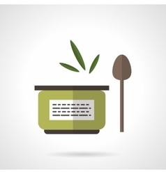 Organic food jar flat color icon vector image