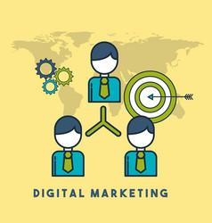 organization chart business target digital vector image