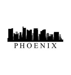 phoenix skyline vector image