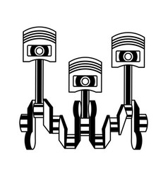 pistons crankshaft internal combustion engine vector image