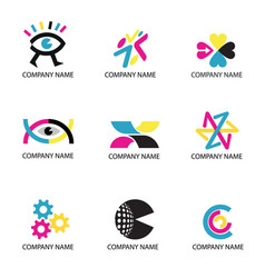Print cmyk colors icons vector