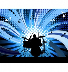 Rock group drummer vector