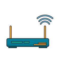 Router icon cartoon vector