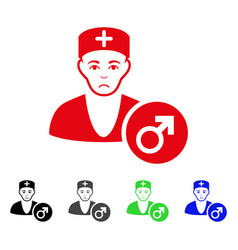 sad andrologist doctor icon vector image