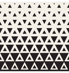 Seamless Black and White Triangle Halftone vector