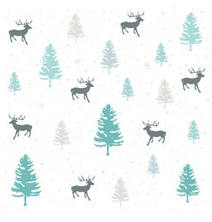 seamless natural ornament on the christmas theme vector image