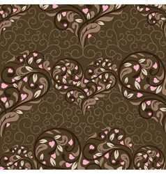 seamless pattern with abstract heart vector image